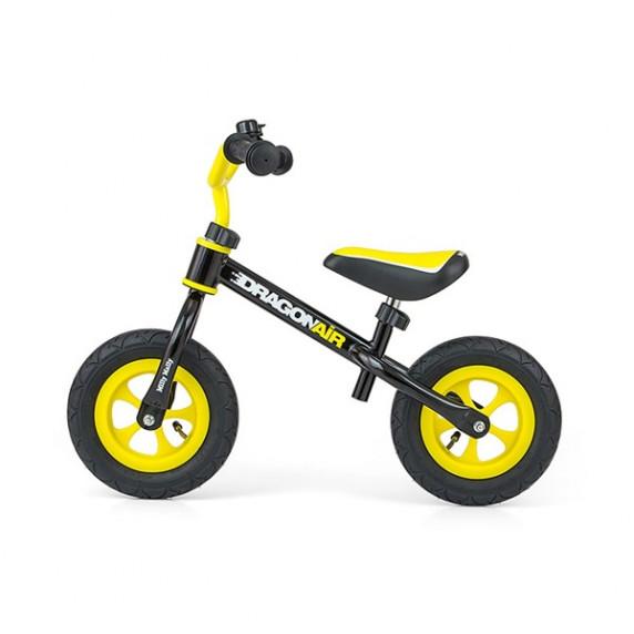 Dětské cykloodrážedlo Milly Mally Dragon AIR 10 '- černo - žluté