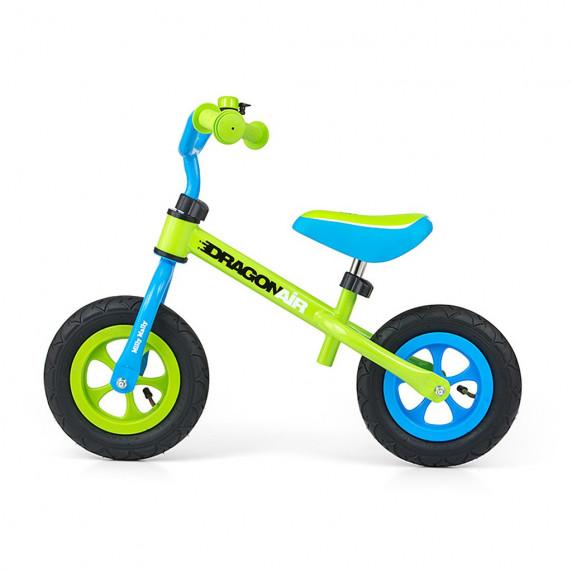 Dětské cykloodrážedlo Milly Mally Dragon AIR 10' - zeleno - modré