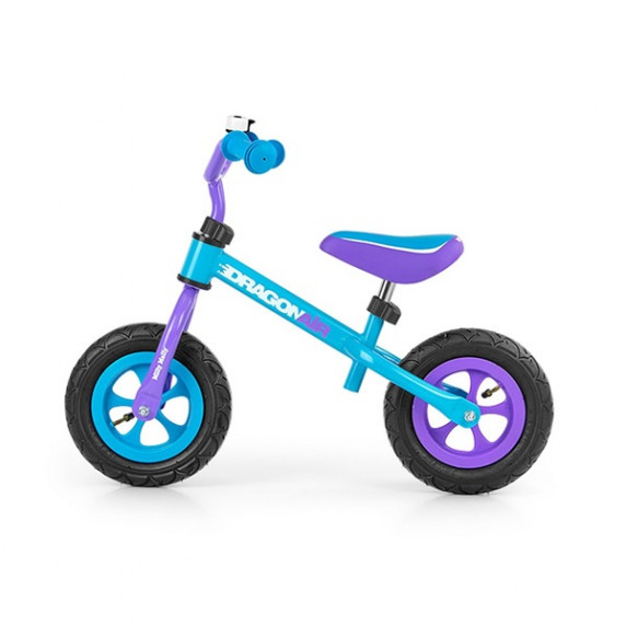 Dětské cykloodrážadlo Milly Mally Dragon AIR 10 '- modro-fialové