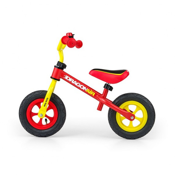 Dětské cykloodrážadlo Milly Mally Dragon AIR 10 '- žluto-červené
