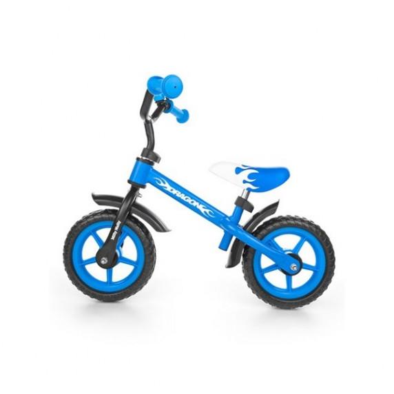 Dětské cykloodrážadlo Milly Mally Dragon s brzdou 10 '- modré