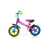 Dětské cykloodrážedlo Milly Mally Dragon s brzdou 10 '- multicolor