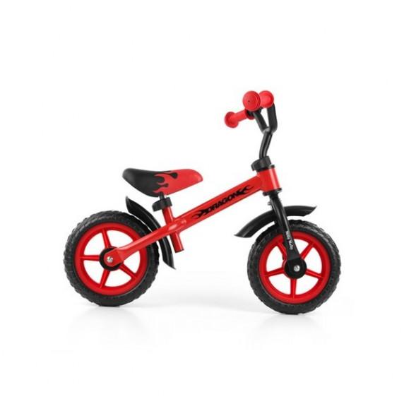 Dětské cykloodrážadlo Milly Mally Dragon s brzdou 10 '- červené