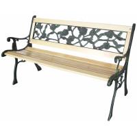 InGarden Zahradní lavička s kovaným designom 122 x 56 x 74 cm