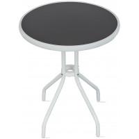 Aga Zahradní stůl MR4350LGY 70x60 cm - bílo-černý