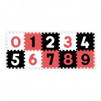 Pěnové puzzle 30 x 30 cm 10 ks Baby Ono písmenka - červené