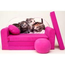 Dětská pohovka Koťátka - růžová Preview