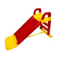 Skluzavka s madlem 140 cm Inlea4Fun - červeno-žlutá