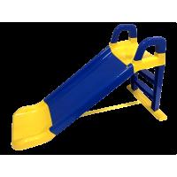 Skluzavka s madlem 140 cm Inlea4Fun - modro-žlutá