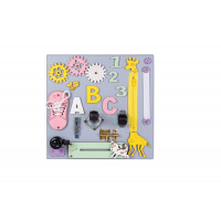 Edukační tabule pro děti 30 x 30 cm MT04 - šedá/žlutá