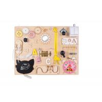 Edukační tabule pro děti 50 x 37,5 cm MT07 - naturální / žlutá