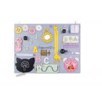 Edukační tabule pro děti 50 x 37,5 cm MT08 - šedá / žlutá