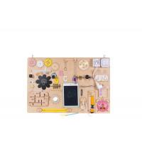 Edukační tabule pro děti 75 x 50 cm MT11i - naturální / žlutá