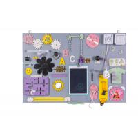 Edukační tabule pro děti 75 x 50 cm MT12 - šedá / žlutá