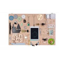Edukační tabule pro děti 75 x 50 cm - naturální
