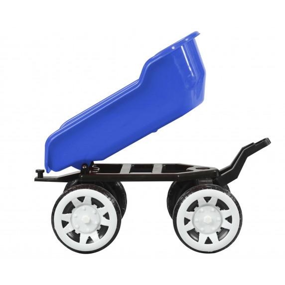 Přívěs na traktor Inlea4Fun Big Farmer - Modrý