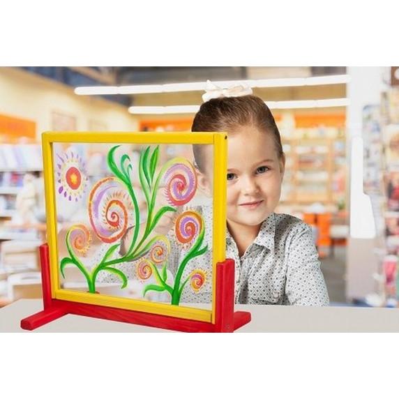 Inlea4Fun dětská tabule na stůl s bezpečnostním sklem