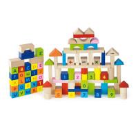 Inlea4Fun barevné dřevěné kostky - Abeceda a číslice