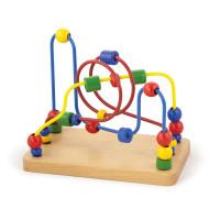 Inlea4Fun dřevěný labyrint s korálky