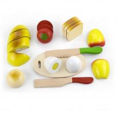 Inlea4Fun 56219 dřevěný snídaňový box s potravinami na krájení Preview