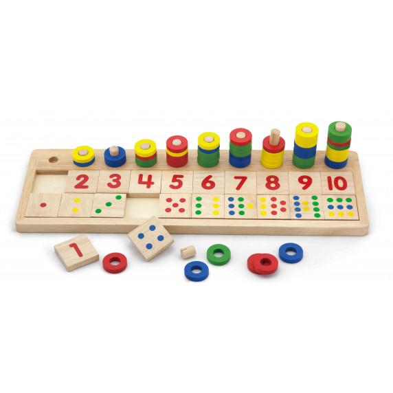 Inlea4Fun dřevěná matematická pomůcka s číslicemi