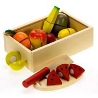 Inlea4Fun dřevěný box s ovocem na krájení