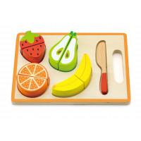 Inlea4Fun dřevěné ovoce na krájení s příslušenstvím - 50978