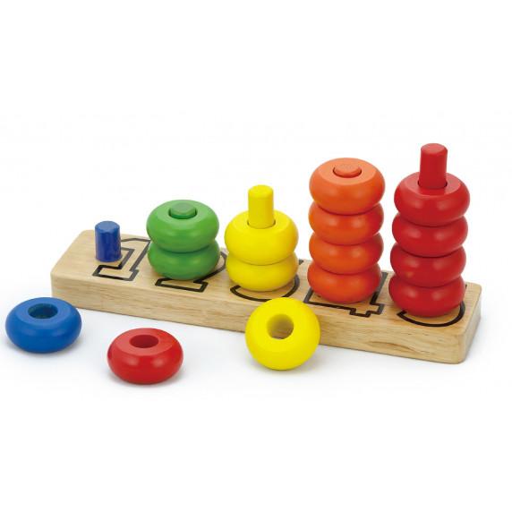 Inlea4Fun dřevěné počítadlo s číslicemi - 58474