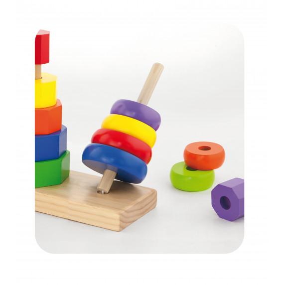 Inlea4Fun dřevěná geometrická skládačka - 50567