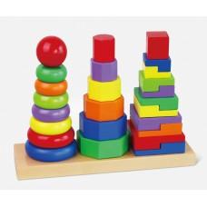 Inlea4Fun dřevěná geometrická skládačka - 50567 Preview