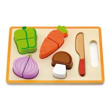 Inlea4Fun dřevěná zelenina na krájení s příslušenstvím - 50979 Preview