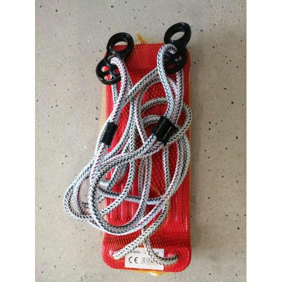 Plastová rovná houpačka Inlea4Fun - Červená