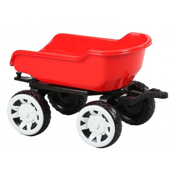 Přívěs na traktor Inlea4Fun Big Farmer - Červený