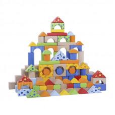 Inlea4Fun dřevěné barevné kostky 300 kusů Preview