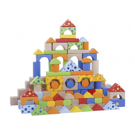 Inlea4Fun dřevěné barevné kostky 300 kusů
