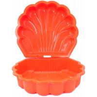Inlea4Fun dvoustranné pískoviště ve tvaru mušle - Oranžové