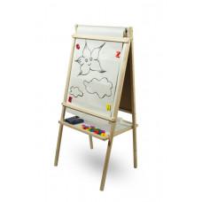Dětská oboustranná tabule Inlea4Fun TEDDY MOP - Natural Preview