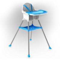 Inlea4Fun dětská jídelní židlička - modrá