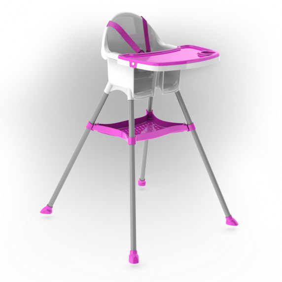 Inlea4Fun dětská jídelní židlička - růžová