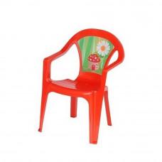 Inlea4Fun umělohmotná židlička pro děti s motivem - Červená Preview