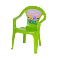 Inlea4Fun umělohmotná židlička pro děti s motivem - Zelená