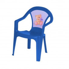 Inlea4Fun umělohmotná židlička pro děti s motivem - Modrá Preview