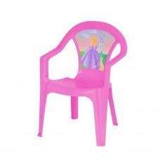 Inlea4Fun umělohmotná židlička pro děti s motivem - Růžová Preview
