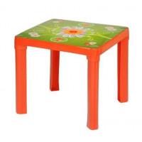 Umělohmotný stolek Inlea4Fun - Červený