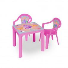 2 stoličky + 1 stolík  - Ružová Inlea4Fun Preview