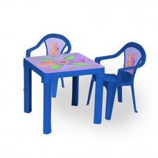 2 židličky + 1 stolek - Modrý Inlea4Fun T02630-T02631 Preview