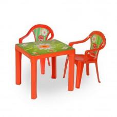 2 stoličky + 1 stolík  - červená Inlea4Fun Preview