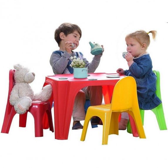 Inlea4Fun dětský plastový stůl se židlemi Keren