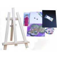 Malířský stojan stolní sada Inlea4Fun S60-2 - naturální