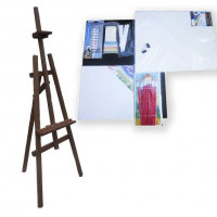 Malířský stojan sada 160 cm Inlea4Fun S160-3 - tmavohnědý